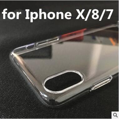 Completamente coberto claro cristal transparente case ultra fino plástico rígido pc tampa traseira para o iphone x xs max xr 7 8 6 plus samsung s8 s9 nota 9
