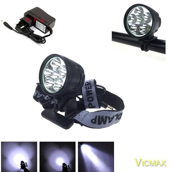 NEUE 8000 Lumen 6x T6 LED Frontscheinwerfer Fahrrad Licht Securitylng XML T6 LED Fahrrad Licht + Stirnband + Batterie