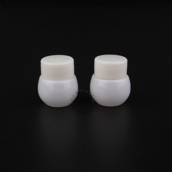 30 x 10g D36mm x H36mm White Plastic Cream Jar Small Sample Bottle Storage Containers Empty Packaging Box Free Shipping