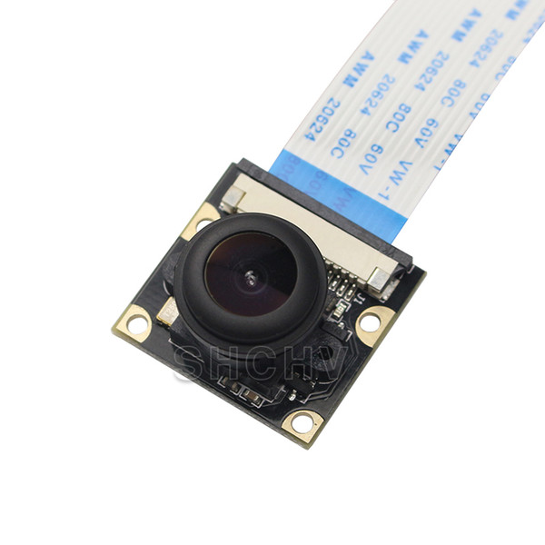 Freeshipping Raspberry Pi 3 Camera Night Vision Wide Angle Fisheye 5M Pixel 1080P Camera Compatible Raspberry Pi 2 Model B