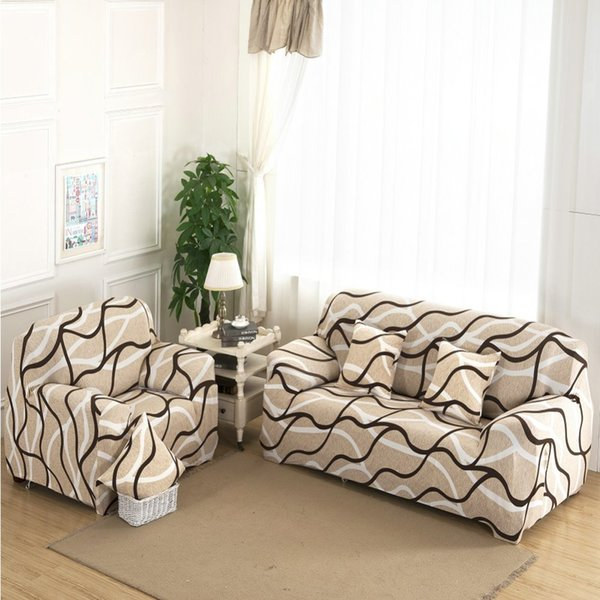 1/2/3/4 Seat Plush Flexible Stretch Sofa Cover Big Elasticity Couch