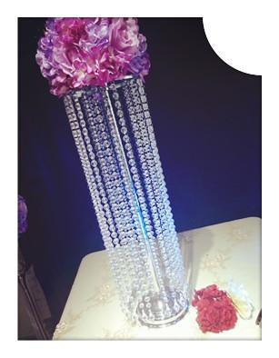 254 & New Crystal Design Clear Hanging Acrylic Crystal Bead Flower Vase For Wedding Table Toddler Birthday Party Supplies Toddler Birthday Supplies From ...