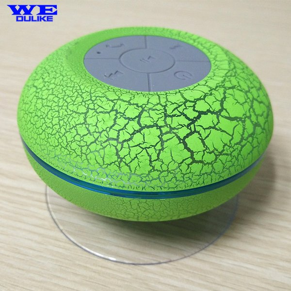 Wholesale- Colors!!! Sucker Dustproof Bathroom Waterproof Wireless Bluetooth Speaker With LED Light Car Shower Speaker Handfree for phone