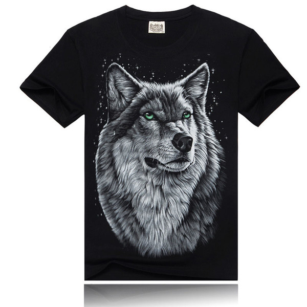 2017 new men's Europe and the United States 3D printing t-shirt design T-shirt cool jacket short-sleeved Hipster T-shirt free shipping