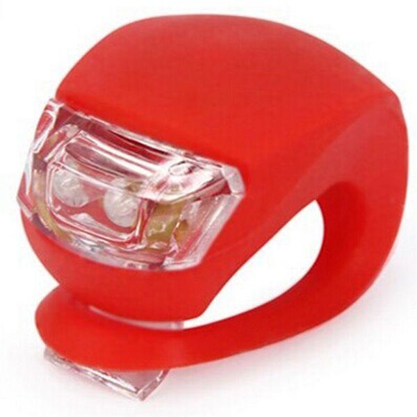 LED Flash Silicone Vélo Vélo Vélo Tête Avant Roue Arrière Lumière Lampe 20 PCS / lot