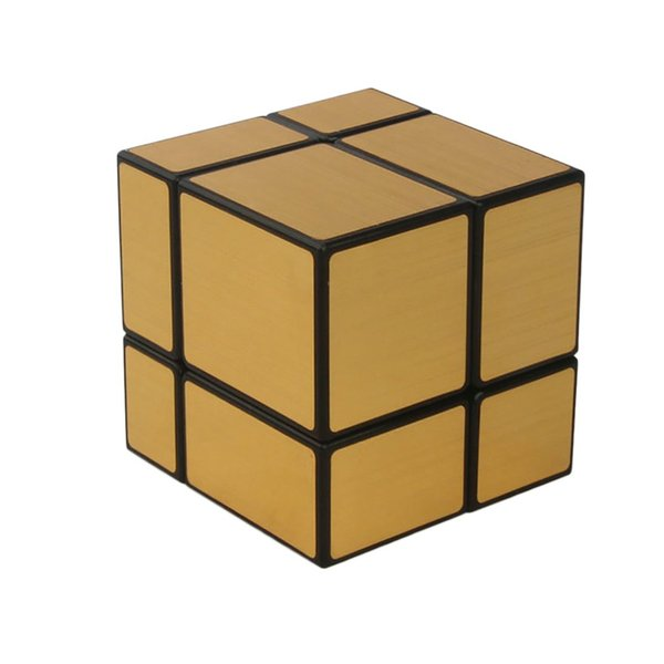 New Arrival Mirror 2x2x2 Speed Cube Magic Cube - Black +Gold