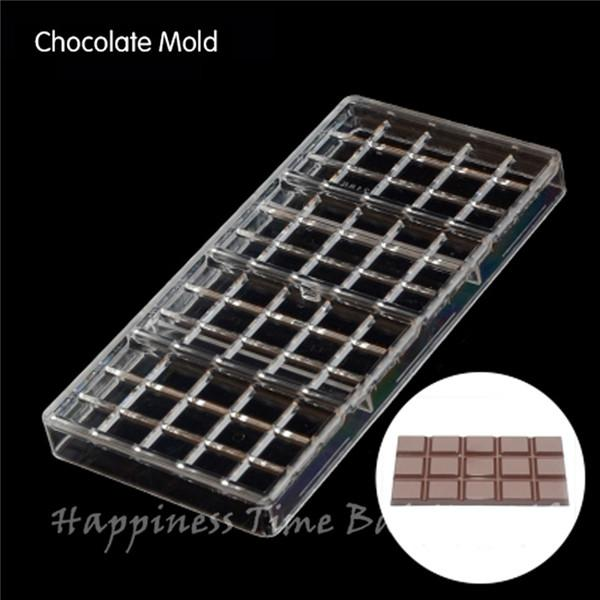 4pcs Square shaped DIY Chocolate Clear Polycarbonate Plastic Mold,Party Handmade Chocolate PC Mold,Chocolate Baking Tool