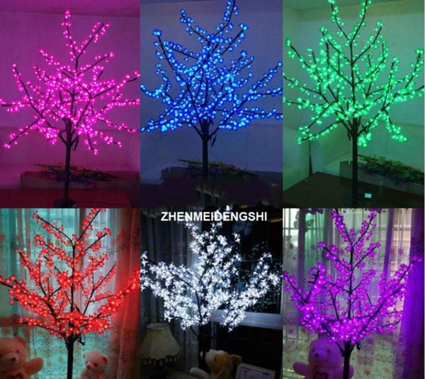 LED Lumière de Noël Cherry Blossom Tree 1.5m / 5ft Hauteur 480 pcs LED Ampoules 110 / 220VAC Fée étanche jardin décoration