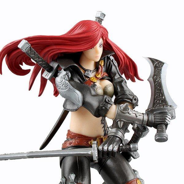 2017 New arrival League Of Legends LOL Katarina Fiora PVC Action Figures lol The Grand Duelist Metal Gear Solid Toys by DHL
