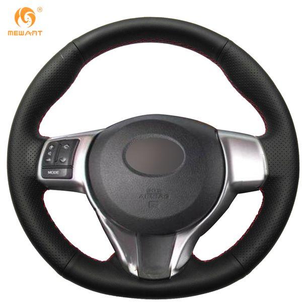 Cubierta del volante de Mewant Black Artificial Leather Car para Toyota Yaris 2012-2017