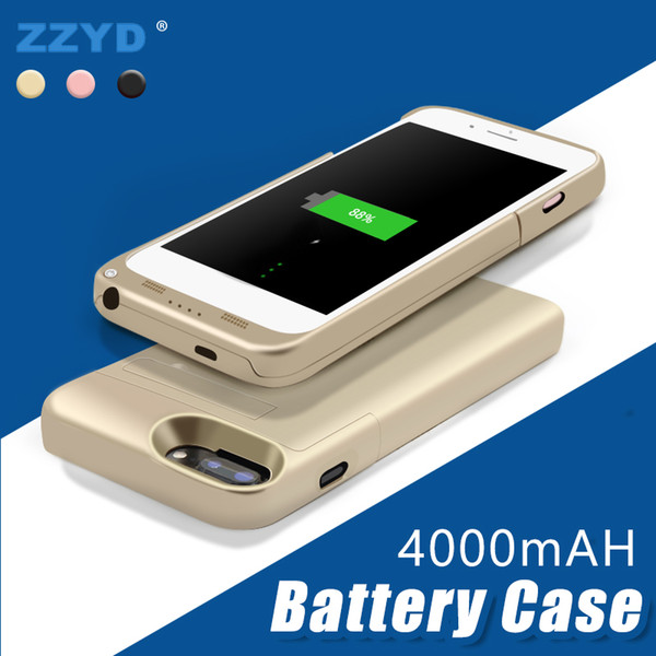 top popular ZZYD Portable 4000 mah Power Bank Case Mobile Phone External Battery Case For iP 6 7 8 plus Cell Phone 2019