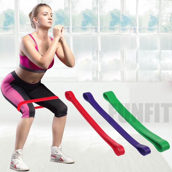 Látex natural Tensión elástica Powerlifting Pull Up Banda de resistencia Ejercicio físico Ruber Loop Crossfit Fuerza Pilates Entrenamiento