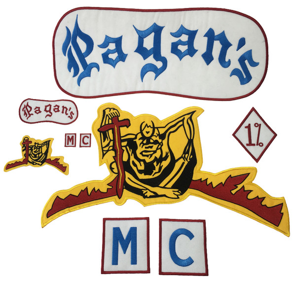 top popular NEW ARRIVAL Pagan Motorcycle Patch 1% Biker Rider Vest MC Embroidered Patch For Back of Jacket Patch G0412 Free Shipping 2021
