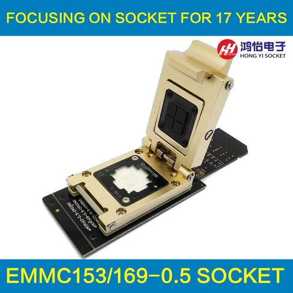 2018 Emmc Test Socket To Sd Interface Nand Flash Pogo Pin Bga153/169 Reader  Size 11 5x13mm Pitch 0 5mm Smart Phone Date Recovery From Hydz2016, $199 0