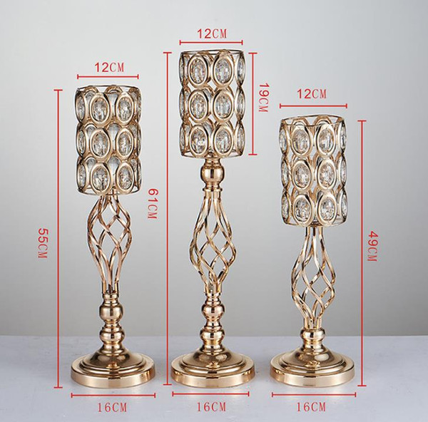 Gold electroplated iron flower vase of wedding props stage background creative household European furnishings free shipping WQ17