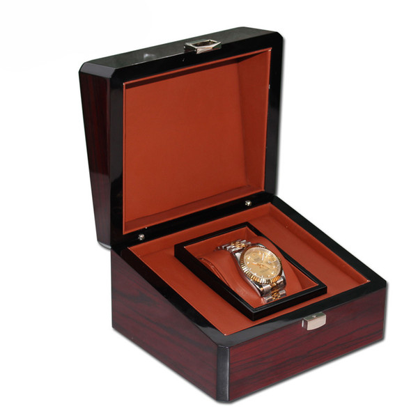 Luxury Watches Wood Box for Watch Top Gift Jewelry Bracelet Bangle Boxes Display brown Spray paint Storage Case Pillow