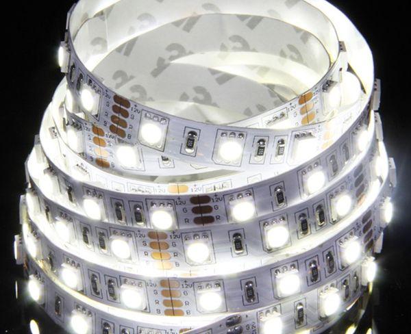 Spedizione gratuita DC 12V o DC24V SMD5050 Led Strip Light IP20 5M / roll 60Led / M Led Stripe Fita Led String Bar tape lamp
