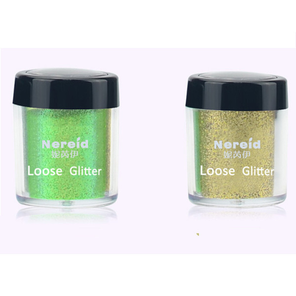 Wholesale- Hot Selling 1pcs Loose Glitter Mineral Eyeshadow Pigment Manicure Powder Women Eye Makeup Shimmer Eyeshadow Palette