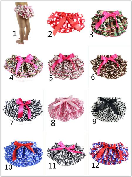Mix 12 colors Baby Bloomers Girls Pettiskirt TUTU underwear Panties Toddle Kids Underpants infant newborn ruffled satin PP pants Kids Cloth