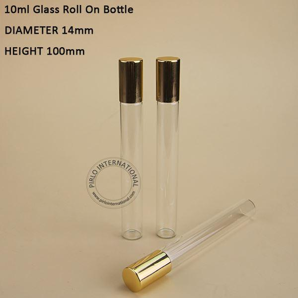 50 x 10ml roll on roller bottles for essential oils Bright Golden cap roll-on refillable perfume bottle deodorant containers