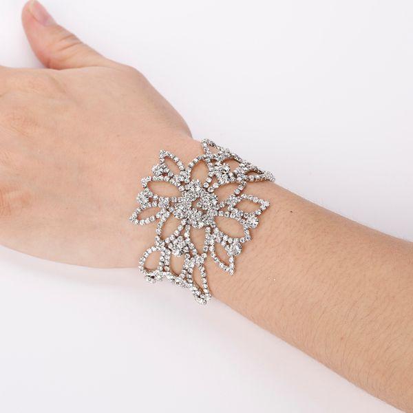 Rheinstein Crystal Strass Quasten Hand Kettenschmuck Slave Armband Hochzeit, Party, Braut, Abschlussball Die Braut schmücken Artikel