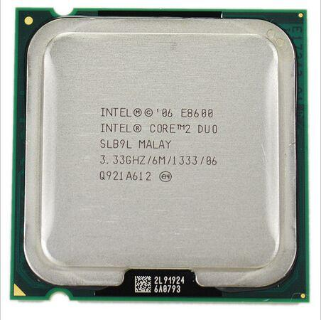 E8600 Intel Core 2 Duo E8600 Processor SLB9L DUAL-CORE 3.33GHz FSB 1333MHz Desktop LGA 775 CPU