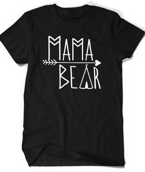 2017 sommer Frauen Mama Bär t-shirt 100% Baumwolle Oansatz T-shirts Shirts t-shirt Lustige Benutzerdefinierte t-shirt Mode Top