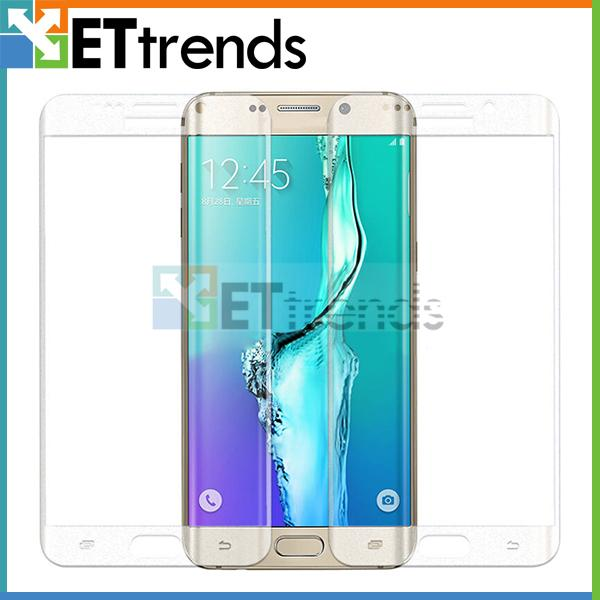 For Samsung Galaxy S6 Edge 0.2MM Full Screen Tempered Glass Protector Curved Full Edge Screen Protector With Retail Package DC0508 Free DHL