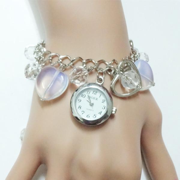 Ventes de commerce extérieur en Europe et en Amérique bijoux coréens aiment la mode Quartz Bracelet montre femmes montres montres