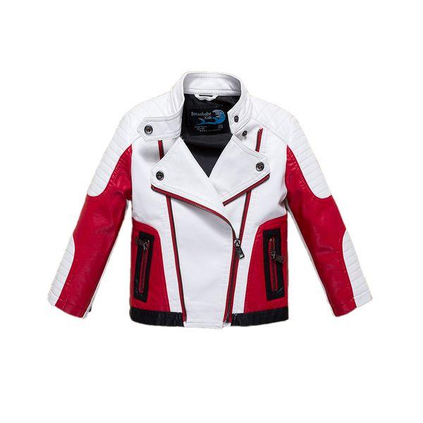 Moda menino casaco causal casaco novidade jaqueta de couro PU casaco para 5-14yrs meninos estudantes crianças crianças outerwear roupas de couro