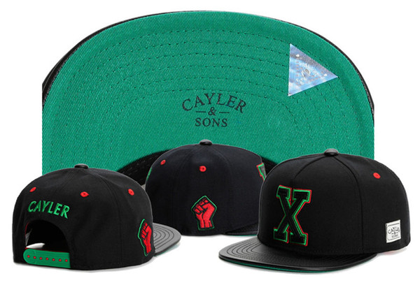 2017 GOOD Quality brand Cayler & Sons X letter leather for men and women Gorras Snapback hats Baseball Caps Casquette Sports Outdoors