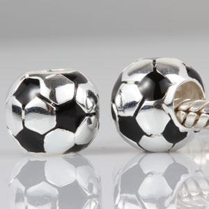 Granos al por mayor del arte del grano grande del espacio que hacen la joyería que hace el encanto del fútbol de Pandora de la plata esterlina 925 para la pulsera con el envío libre