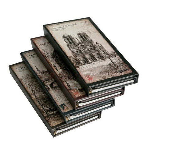 Wholesale- Vintage romantic city hardcover 3-fold notepad memo small notebook 3 styles in 1 set