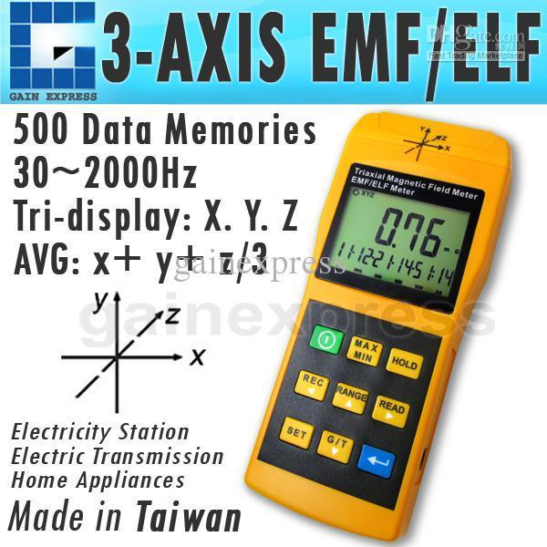 T92 3-Axis Gauss EMF ELF Meter Detector, Electromagnetic Field Radiation Intensity 20/ 200/ 2000 mG & uT, Frequency 30~2000 Hz