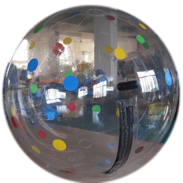 Zorbs de l'eau de marche de boule de PVC de qualité pour les jeux d'amusement de l'homme 1.5m 2m 2.5m 3m affranchissement libre