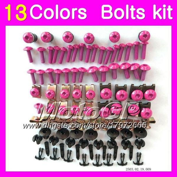 Fairing bolts full screw kit For KAWASAKI NINJA ZX2R ZXR250 1990 1991 1992 ZX 2R ZXR 250 ZX-2R 90 92 Body Nuts screws nut bolt kit 13Colors