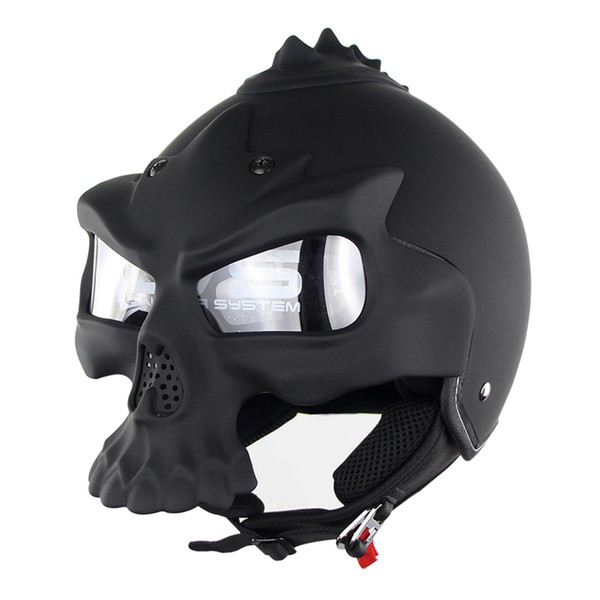 Casco moto Skull Double Lens Casco Harley mezzo casco Motorbike Capacetes Casco Retro Casque Soman Marca SM689