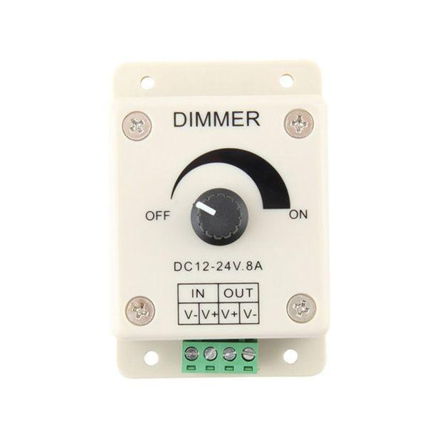 Led dimmer DC 12-24V 8A 96W PIR Sensor Light lamps Switch Dimmer Bright Brightness Adjustable Controller Single Color LED controller 100pcs