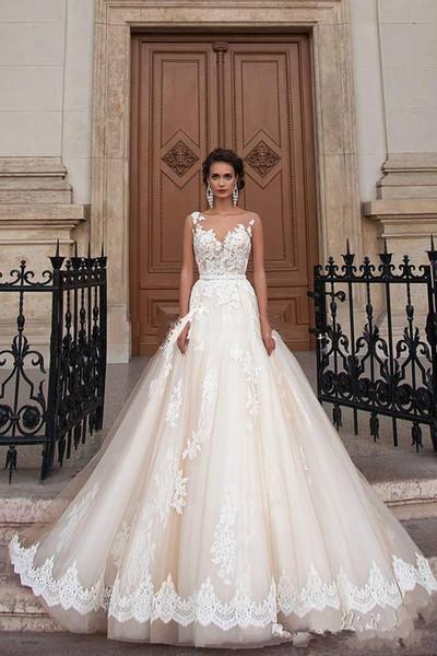 Acheter 2018 Arabe Princesse Milla Nova Dentelle De Mariage Turquie Femmes  Pays Robe De Mariée Robe De Mariée Occidentale 2018 Perle Ceinture Tulle De