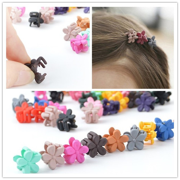 50 Pcs/lot Candy Color Mini Small Hair Claw Girls' Hair Clips Kids Flower Hair Accessories
