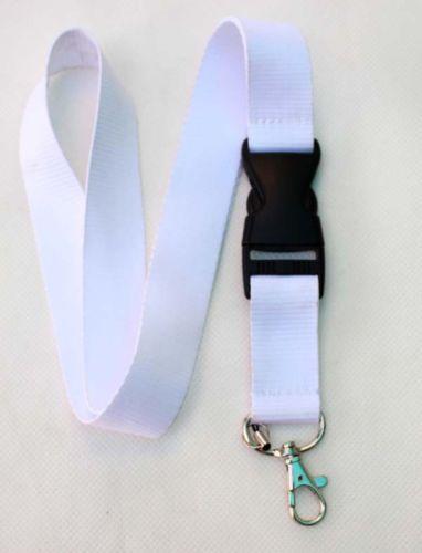 Neues Design ! 10pcs geben Verschiffen-populäre verkaufte weiße reine Farbe klassische Lanyard-Umhängeband Lanyard GROSSVERKAUF frei