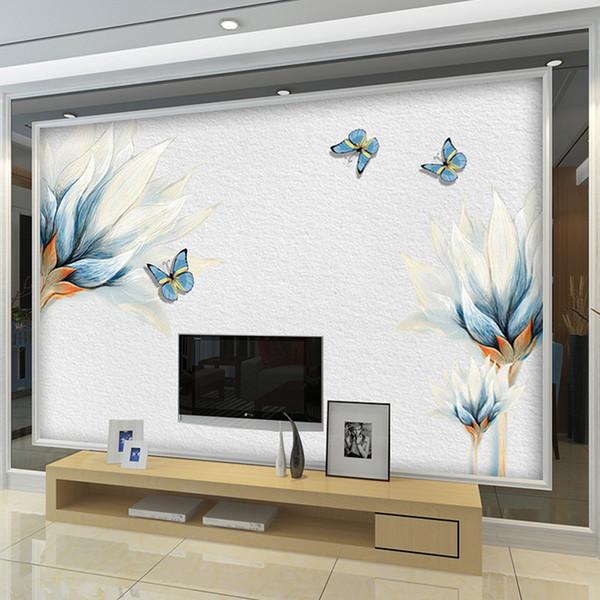 Großhandel 2017 Neue Elegante Blumenblüte Wandbild Vlies Tapeten Große 3d  Tapete Wand Für Wohnzimmer Schlafzimmer Kunst Decor Von Molamurals, $39.78  ...