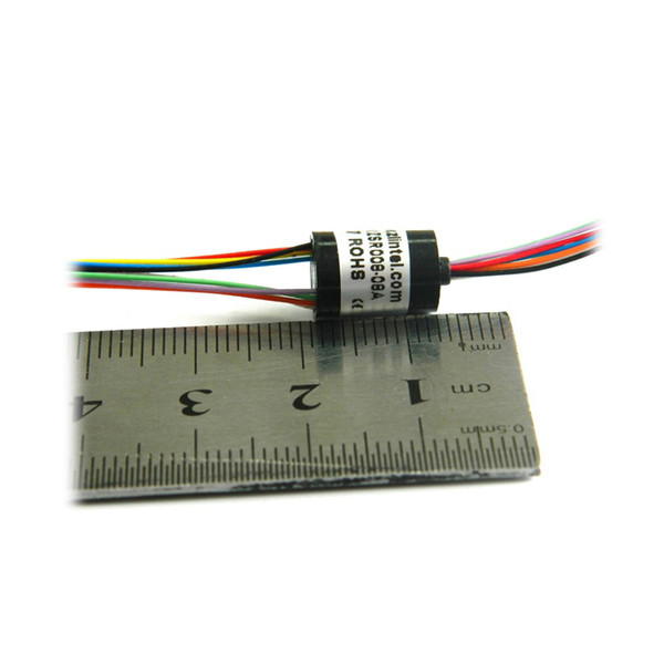 FPV RC Drone Accessoris Mini Slip Ring 8 Channel 2A 8mm Out Dia. Capsule slip-ring for PTZ Gimbal Slip Rings