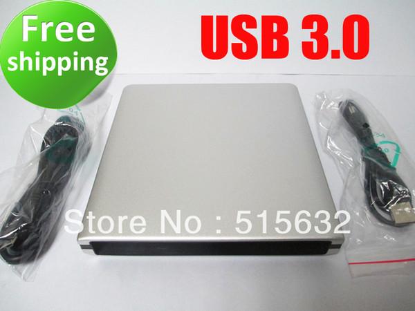 Wholesale- USB 3.0 SATA external Caddy Enclosure case for laptop CD/DVD writer burner drive