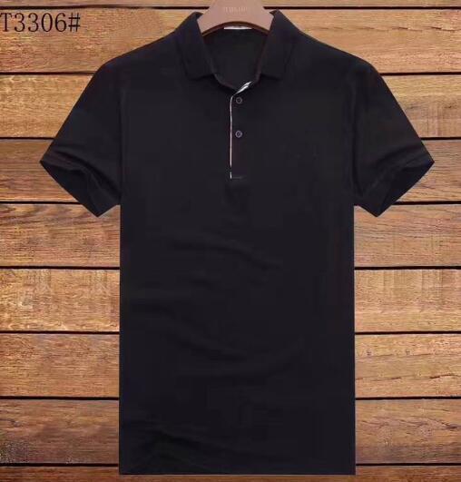 Camicia di polo a maniche corte di marca britannica di affari di marca 2017 di polo degli uomini di polo solidi casuali camicie casuali di usura della Jersey camisa