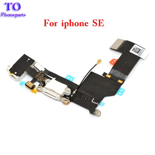 Wholesale New Charger Dock USB Charging Port Plug Flex Cable For Iphone 5SE SE With Headphone Jack Version Free Shipping