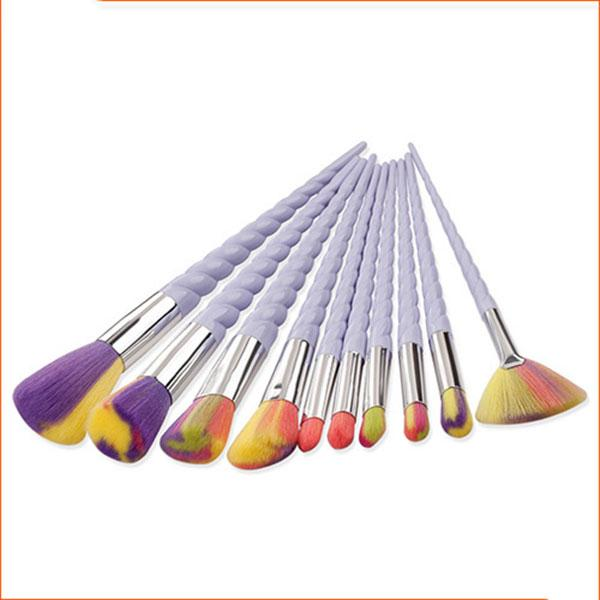 10Pcs Set Oval Makeup Brush Eyeliner Sopracciglio Make Up Pennelli Maquillaje Rasatura # B001 all'ingrosso