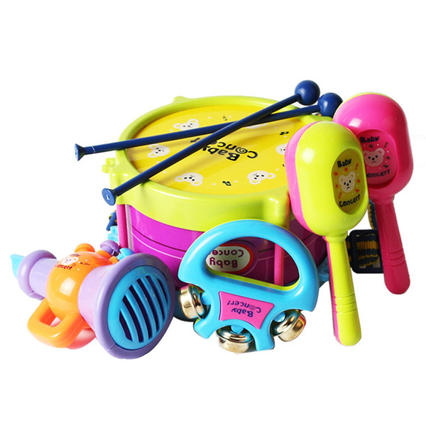 Wholesale- Baby rattles Plastic Musical Instruments Baby educational toys Kindergarten Activities tools environmental protection toy z237