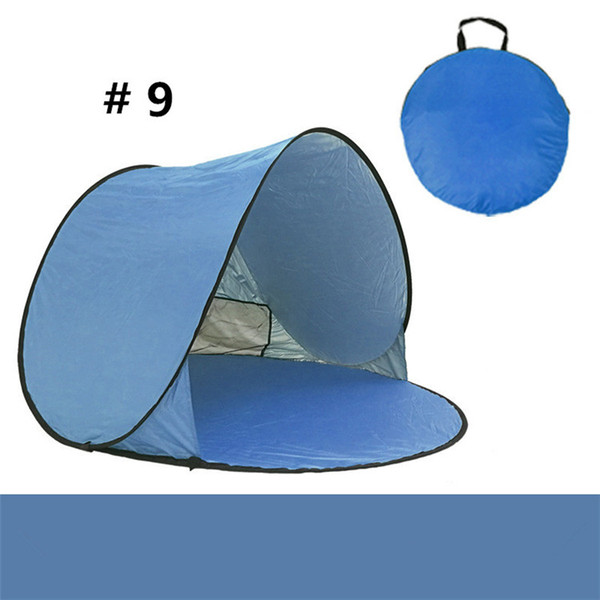 Quick Automatic Opening Hiking Tents Outdoors Camping Shelters 50+ UV Protection Family Tent Beach Travel Lawn Home Multicolor with Nails