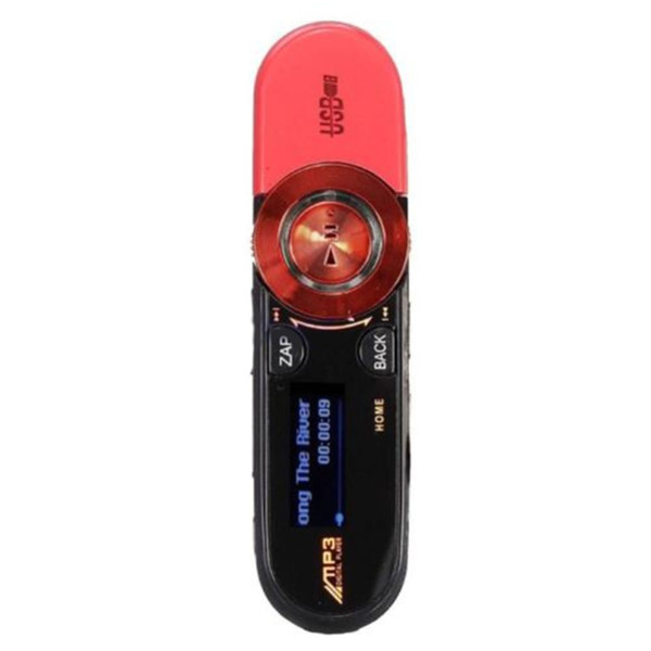 Wholesale- 16GB USB LCD Screen Flash Drive Support TF Card Slot MP3 Player Music FM Radio and Earphone Hot Sale